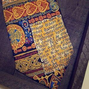 Alynn 100% Silk Tie. Beige Oath of Hippocrates.